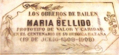 Placa de Maria Bellido